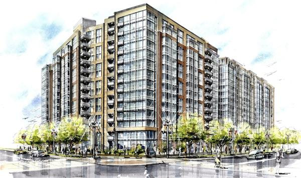 The second phase of Meridian at Mount Vernon Triangle will be 14 stories and contain 393 apartment units. At this point, 80 percent of the 390 first-phase units are leased.