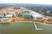No. 23: National Harbor opens in Prince George's County (April 25, 2008)The story of how The Peterson Cos. helped transform a prime but underutilized waterfront site in southern Prince  George's County into a sprawling shopping, entertainment and residential center is, in many ways, still unfolding. The latest chapter was revealed Feb. 16, when the county released a study proposing that a full-scale casino be built at the 300-acre development, adding to a host of other attractions that include the Gaylord National Resort and Convention Center.National Harbor, shown under construction in 2006, has boosted tourism spending and employment in Prince George's County.