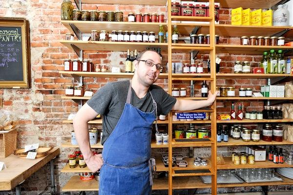 In addition to stocking his shelves with seasonal sauces, vegetables and other products, Seasonal Pantry co-owner and chef Dan O'Brien lays it all out on the table with 12 to 14 supper club sessions a month — another avenue for revenue, he says.