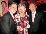 From left, James Campbell of the Omni Shoreham, Linda Donavan Harper of Cultural Tourism D.C. and Robert Demers of Thuraya.