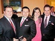 From left, Michael Feldman of Hyatt Hotels, Ernie Arias and Renee Sharrow of the Park Hyatt and Matt Eisman of ADP.