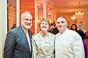 From left, chef Art Smith of Art and Soul, National Cherry Blossom Festival Chairman Susan Norton and chef Jose Andres of ThinkFoodGroup.