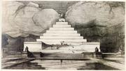 John Russell Pope, designer of the National Archives building, the National Gallery of Art and the Jefferson Memorial, proposed this pyramid to honor the 16th president, Abraham Lincoln.
