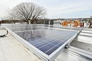 Solar panels: Each condo unit has its own row of solar panels, which provide about 25 percent of the building's energy.