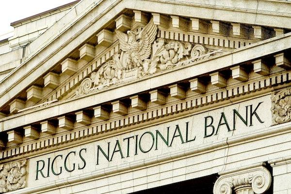D.C.-based Riggs Bank loaned the federal government money to fund the Mexican War in the 1840s. A series of scandals starting in 2003 rocked the bank, and it was eventually acquired by PNC Bank in 2005 for $652 million.