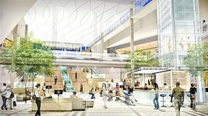 An artist's rendering shows what the interior of Springfield Mall will become as Vornado Realty Trust remakes the mall into the Springfield Town Center.