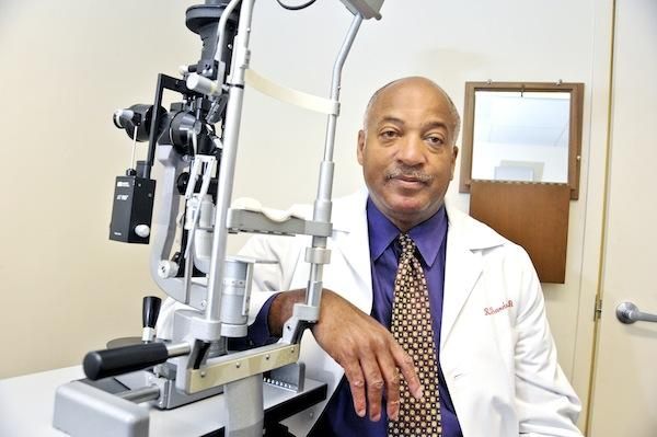 Dr. Reg Sanders, co-managing partner of the Retina Group, is looking at merger possibilities beyond the Washington area to increase the group's clout with insurers and hospitals.