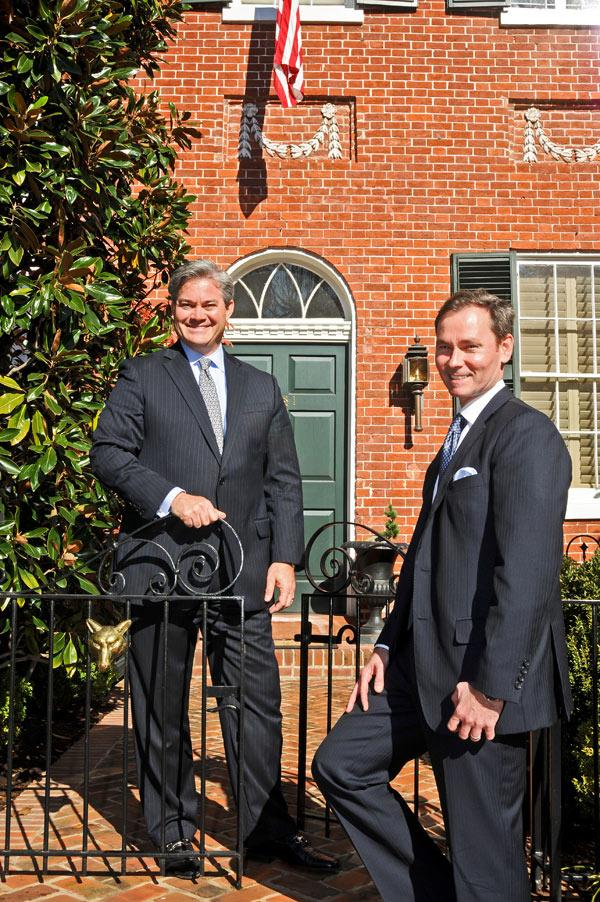 Because of TTR's connection with the prestigious Sotheby's brand, people who want to sell their multimillion-dollar, history-rich homes are putting out the welcome mat for TTR managing partners Mark Lowham, left, and Michael Rankin.