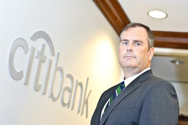 Citibank's new market president, Scott Stokes, spent most of his time with the company in San Francisco. He came to the Washington area a year ago.