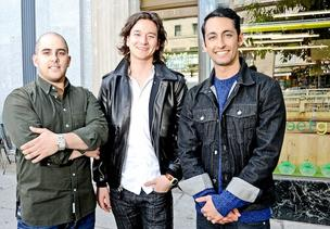 Sweetgreen founders, from left, Nicolas Jammet, Nathaniel Ru and Jonathan Neman have used a music festival to help build their brand as a company that promotes not just healthy eating but a healthy lifestyle as well.