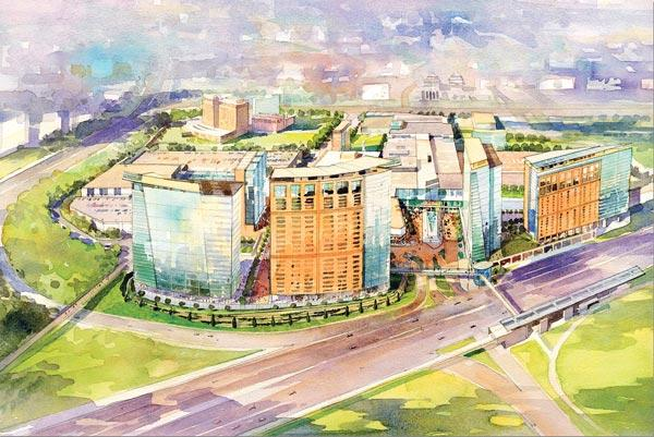 The first phase of a Tysons Corner development by Macerich is expected to include a 550,000-square-foot office building, rental units and a hotel.