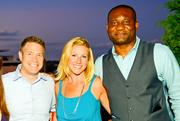 From left, Steve Chenevey of WJLA, Jessica Gibson of Constellation Wines and Buwa Binitie of Dantes Partners.