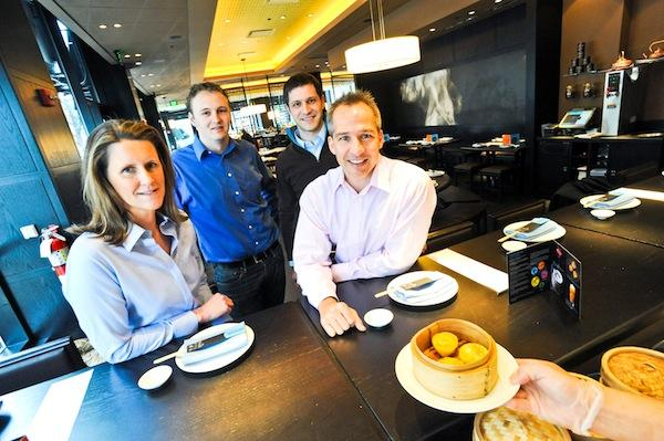 Venga is shifting its menu of restaurant services from special promotions to customer data analysis under the leadership of, from left, Chairman Reg Stettinius, Chief Technology Officer Karl Johnson, CEO Sam von Pollaro and President Winston Bao Lord.