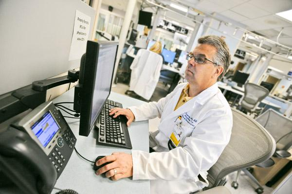 Dr. Gregory Marchand, director of informatics in the Emergency Medicine Department of Washington Hospital Center, is one of the many medical information specialists in the region trying to set up networks that enable doctors and hospitals to exchange data electronically.
