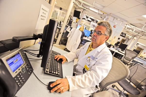 Doctors such as Gregory Marchand of Washington Hospital Center rely on the D.C. Regional Health Information Organization to exchange complicated patient data between emergency rooms and clinics.