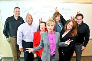 Karen Louis, member-in-charge, poses with members of her team at WJ Technologies in Herndon, from left to right: Tony Bowser, Davian Wexler, Susan Smith, Cindy Kalkwarf, Dana Connor and Jason LeMaire.