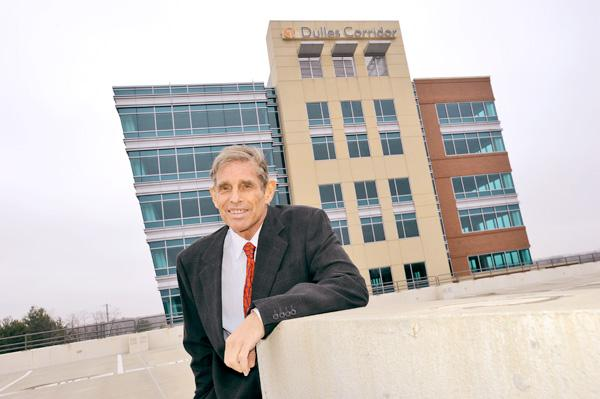 Chris Walker wanted his 13th building in the region to be his swan song, but the project is still waiting for its first tenant. Walker hopes the tide will turn as space on the Dulles corridor tightens.