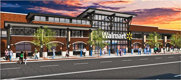 A rendering of the proposed Georgia Avenue Wal-Mart, which may break ground soon after a legal challenge was tossed.