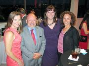 From left, Frank Brown of Norfolk Southern, Katherine McKee of the Post and Jacqui Hannigan of RP3 Agency.