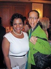 Qiana Randall, left, with Jennifer Eugene, both of Washington Gas.