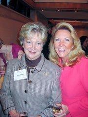 Linda Rabbitt of Rand Construction, left, with Sherry Cushman of Cushman & Wakefield.