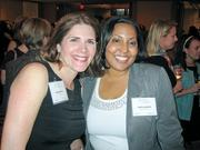 Kim Sullivan of Gensler, left, with Anitra Androh of Saul Ewing LLP.