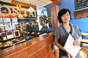 Kyong Yi will take her savory and sweet crepes business outdoors in April when she  participates in Alexandria's food cart pilot program.