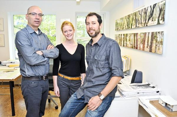 Architects Greg Kearley, left, Siobhan Steen and Stefan Schwarzkopf  formed Inscape Publico, a nonprofit architecture firm set up to do discounted work for other nonprofits.