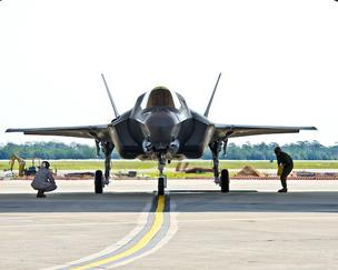 The Pentagon has suspended flights of Lockheed Martin Corp.'s F-35 Joint Strike Fighter after a routine inspection found a crack on an engine blade, the Department of Defense said in a statement Friday.