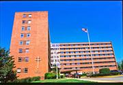 The main building at Providence Hospital, one of several D.C. hospitals facing major facility upgrade concerns, dates to 1956.