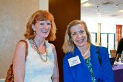 Elizabeth Murphy of Leadership Fairfax, left, and Catherine Riley of the Fairfax County Economic Development Authority.