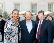 Washington Kastles owner Mark Ein hosted a kickoff party at Poste  Moderne Brasserie celebrating the start of the team's 2012 season on  July 9, 2012. Attendees included Faith Williams and John Goodchild, both of  Cancer Treatment Centers of America, here with Ein, center.See more photos from the July 27, 2012 edition of The Back Page Extra.