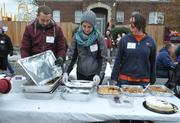 Delicious food was donated by D.C. CentralKitchen, Papa Johns, Matchbox and Diane Cottman — and kept volunteers happy and hydrated throughout the day at the DASH/KaBOOM! playground build on Saturday, Nov. 3.