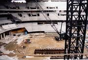 MCI Construction, February 1997. MCI Communications was a long-distance telephone provider headquartered in D.C. that paid for naming rights to the arena.