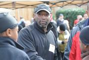 Washington Redskin alum Frank Grant worked the cord during the playground build on the grounds of DASH's Cornerstone Housing Facility on Saturday, Nov. 3.