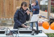 Dynamic musicwas deejayed by DJ M Dot while building the new playground on the grounds of DASH's Cornerstone Housing Facility on Saturday, Nov. 3.
