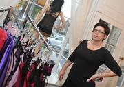 Anna Everett of La Tache Lingerie & Gifts in historic downtown Leesburg was open for business on Monday.