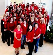 The American College of Cardiology staff support National Wear Red Day to fight heart disease in women on February 3.