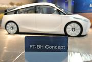 The Toyota FT-BH Concept car was on display at the Washington Auto Show.