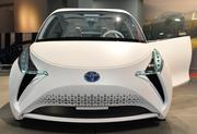 A front-end view of the Toyota FT-BH Concept car at the Washington Auto Show.