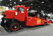 """A 1946 Chevrolet COE Custom Car Hauler with a """"454"""" under the hood is offered by Flemings Ultimate Garage for $34,990. The Rockville-based specialty auto dealer has a display of their unique cars for sale at the Washington Auto Show."""