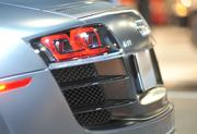 Detail of the rear of the Audi R8.
