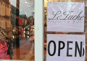 La Tache Lingerie & Gifts in historic downtown Leesburg was open for business on Monday - but probably not until its usual 10 p.m.