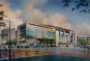 Here's the final concept for MCI Center, provided by Clark Construction.
