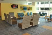 Comfortable waiting rooms in Kaiser's new Tysons facility are decorated with local artwork.