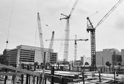 Construction on MCI Center in October 1996. Then-team owner Abe Pollin financed the construction himself, a rarity during an era of taxpayer-funded sports stadium construction.