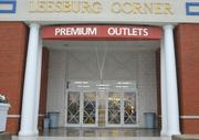 The Leesburg Premium Outlets was closed for business and taped their windows in preparation for Hurricane Sandy.