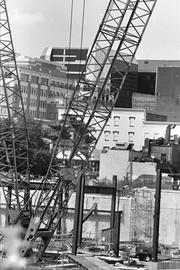 MCI Center construction, October 1996. Then-team owner Abe Pollin's venture was helped by a $100 million below-market land lease from the District and $60 million in city-paid infrastructure improvements.