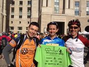 American College of Cardiology employees, Will Garcia, left, Rob Madill & Brad Ettinger participate in Bike to Work Day.