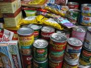 Non-perishable food: Cans, bags, whatever. Make sure to stock up on the foods that won't go bad if your appliances have no power. Also a good idea to get a manual can opener.